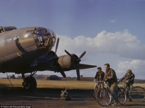 B-17 Crew with Bicycles